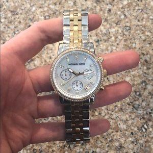 Michael Kors Tri-Tone Ritz Watch